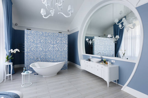 Сочетание плитки в ванной: советы, тренды и 50+ примеров для вдохновения