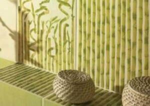 Бортик с плиткой бамбук